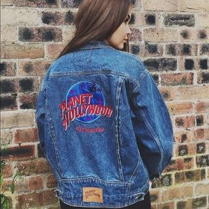 Vintage Planet Hollywood Jean Jacket